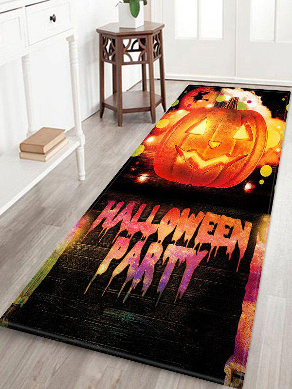 Cheap HALLOWEEN PARTY Pumpkin Pattern Water Absorption Area Rug