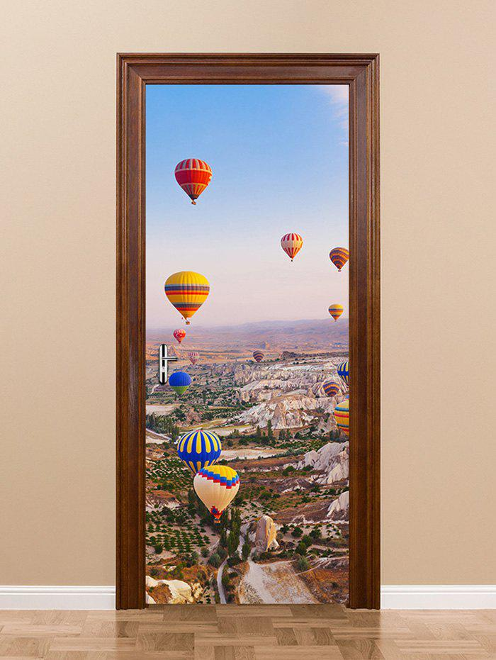 Outfit Hot Air Balloon Print Door Art Stickers