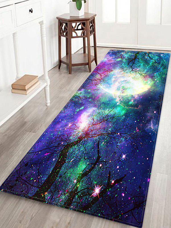 Chic Moon Galaxy Pattern Water Absorption Area Rug