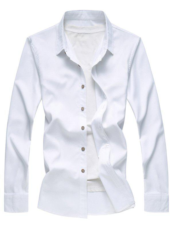 New Textured Solid Button Up Casual Shirt