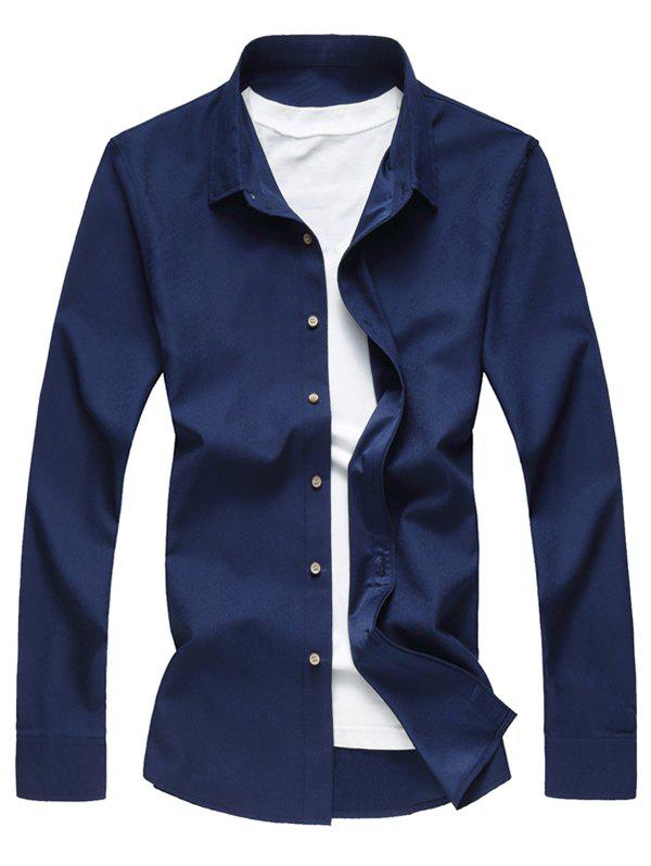 Hot Textured Solid Button Up Casual Shirt