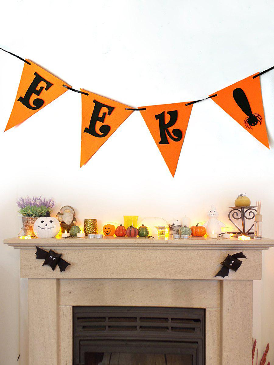 Fashion Halloween EKK Spider Flag Garland Decor