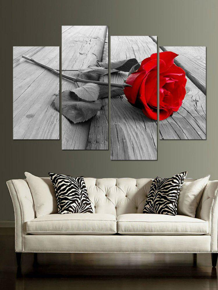 Online Rose Wood Floor Print Unframed Split Canvas Paintings