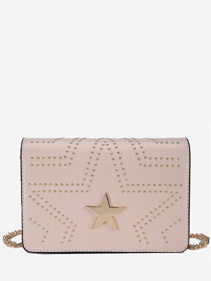 Discount Metallic Star Studs Chic Chain Bag