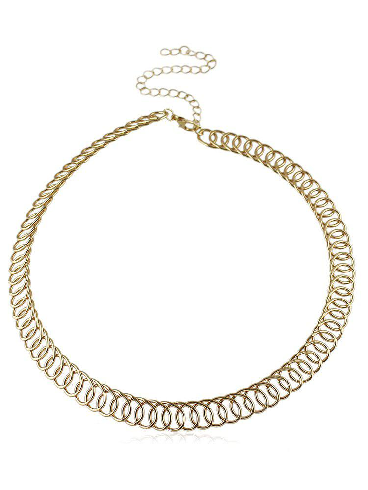 Chic Circle Splicing Choker Necklace