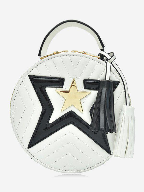 Discount Chic Round Star Color Block Sling Bag