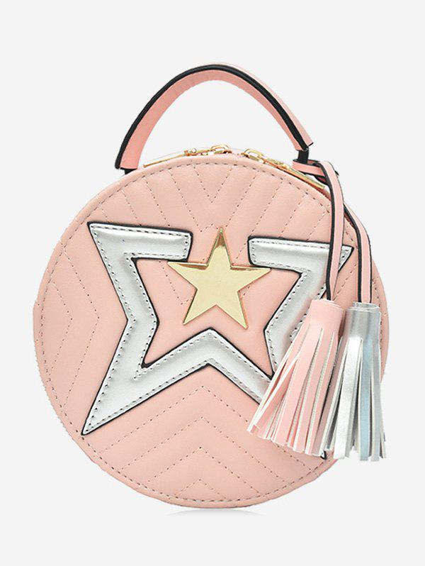 Store Chic Round Star Color Block Sling Bag