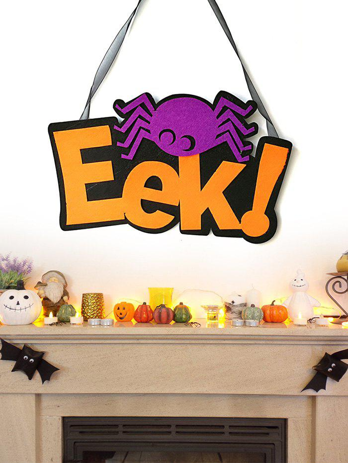 Outfits Halloween EEK Spider Wall Hanging Decoration