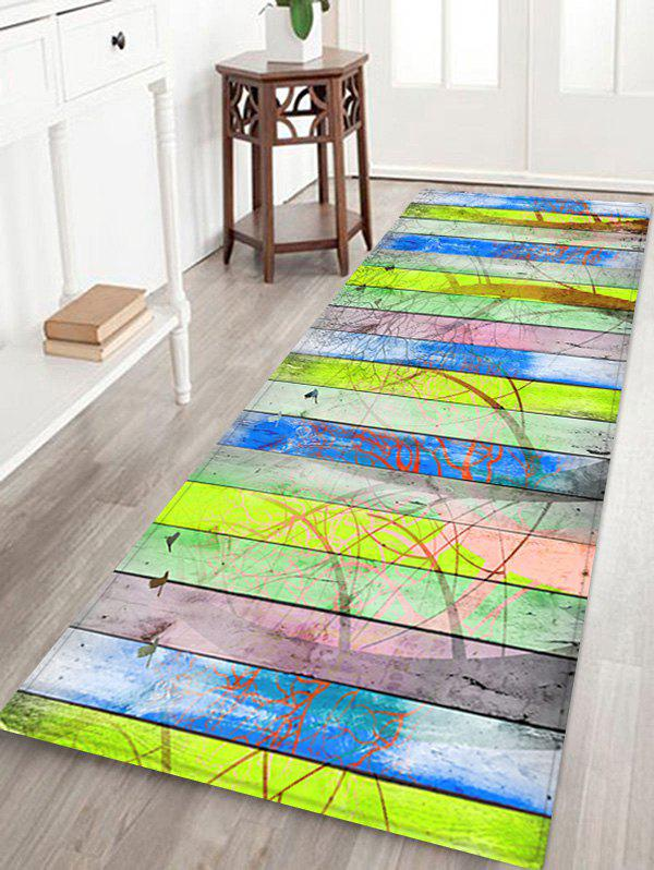 Fashion Wood Grain Forest Pattern Water Absorption Area Rug