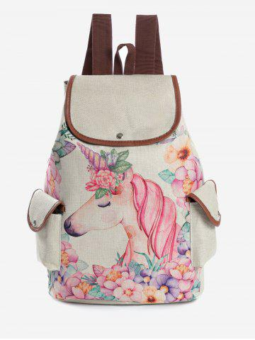 37e2772770bf Leisure Unicorn Pattern School Backpack