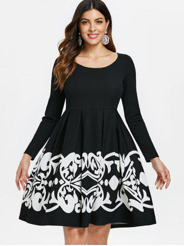 Retro Tribal Print High Waist Dress