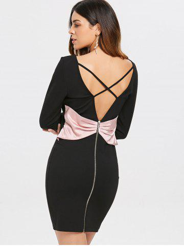 Open Back Bowknot Party Dress