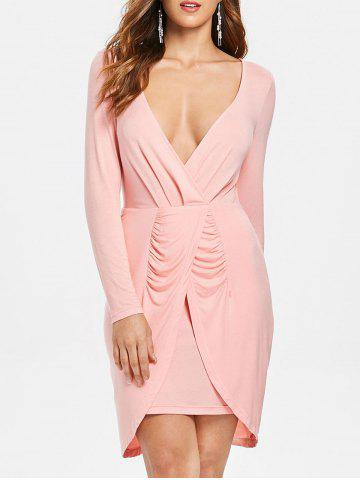 Low Cut Ruched Party Dress