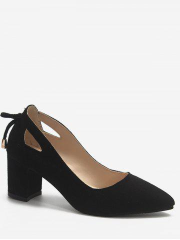 Plus Size Block Heel Cut Out Pumps