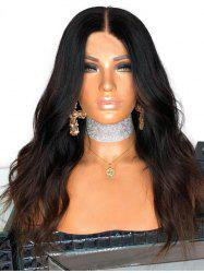 Middle Part Long Colormix Natural Wavy Synthetic Wig -