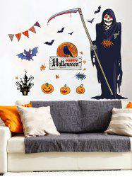 Halloween Death Print Wall Stickers for Bedroom -