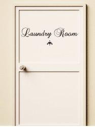 Laundry Room Print Door Wall Stickers -