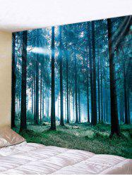 Wall Hanging Art Sunlit Forest Print Tapestry -