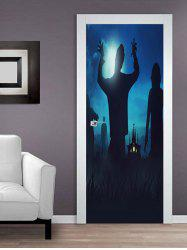 Halloween Zombie Pattern Door Cover Stickers -