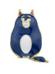 Rabbit And Bear Enamel Brooch -
