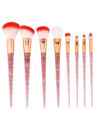 8шт Ultra Soft Silky Foundation Blush Travel Cosmetic Brush Set -
