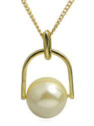 Round Ball Pendant Alloy Chain Necklace -