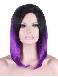 Medium Side Parting Ombre Straight Bob Synthetic Cosplay Wig -