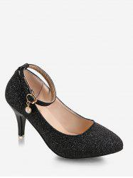 Plus Size Stiletto Heel Glitters Pumps -
