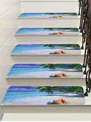Sea Beach Print Decorative Stair Floor Rugs -