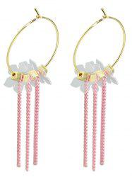 Tiny Flowers Chain Tassel Drop Earrings -