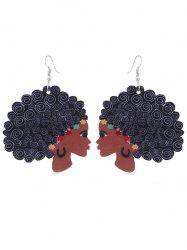 Statement Elegant Women Wooden Earrings -