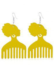 Pretty Lady Comb Fish Hook Earrings -