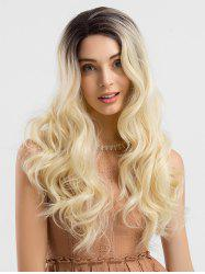 Long Colormix Wavy Party Synthetic Lace Front Wig -