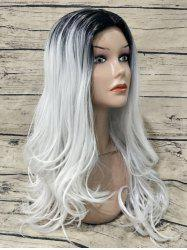 Long Center Parting Colormix Wavy Capless Synthetic Wig -