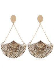 Ethnic Style Geometric Wooden Drop Earrings -
