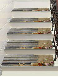 Wood Starfish Conch Decorative Stair Floor Rugs -