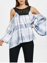Cold Shoulder Tie Dye Top -