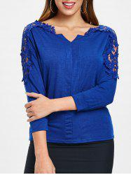Cutwork Lace Sleeve Top -