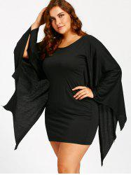 Halloween Bat Wings Plus Size Tunic Dress -