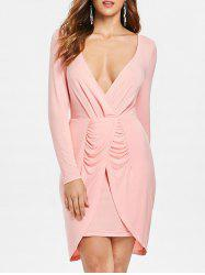 Low Cut Ruched Party Dress -