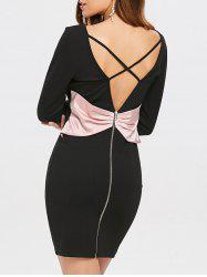 Open Back Bowknot Party Dress -