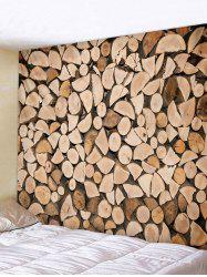 Wall Hanging Art Firewood Print Tapestry -