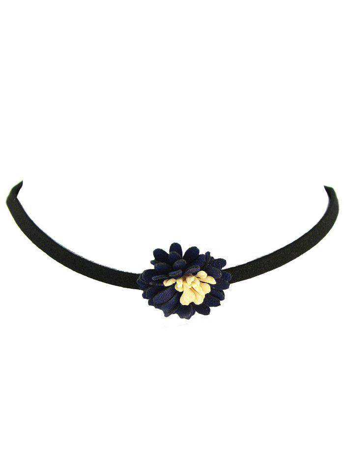Shops Contrasting Color Flower Choker Necklace