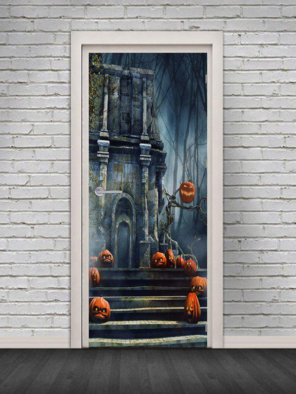 New Halloween Castle Pattern Door Cover Stickers