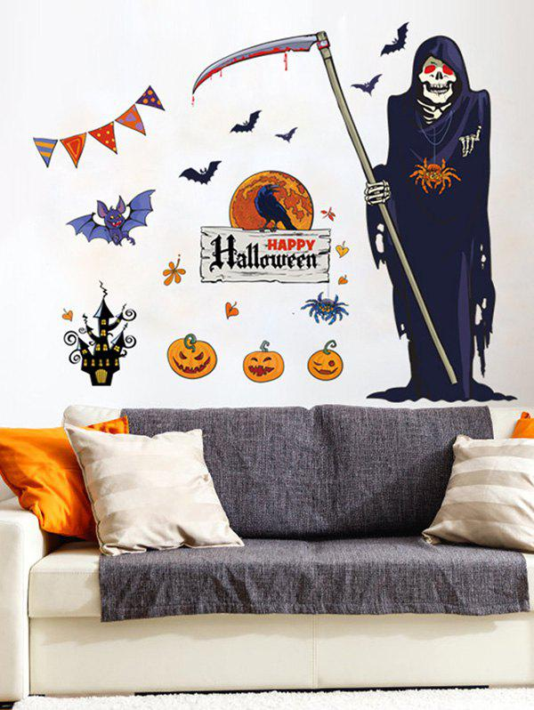 Fancy Halloween Death Print Wall Stickers for Bedroom