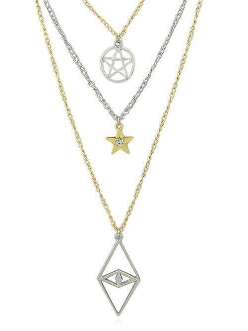 New Multilayer Eye Star Design Chain Necklace