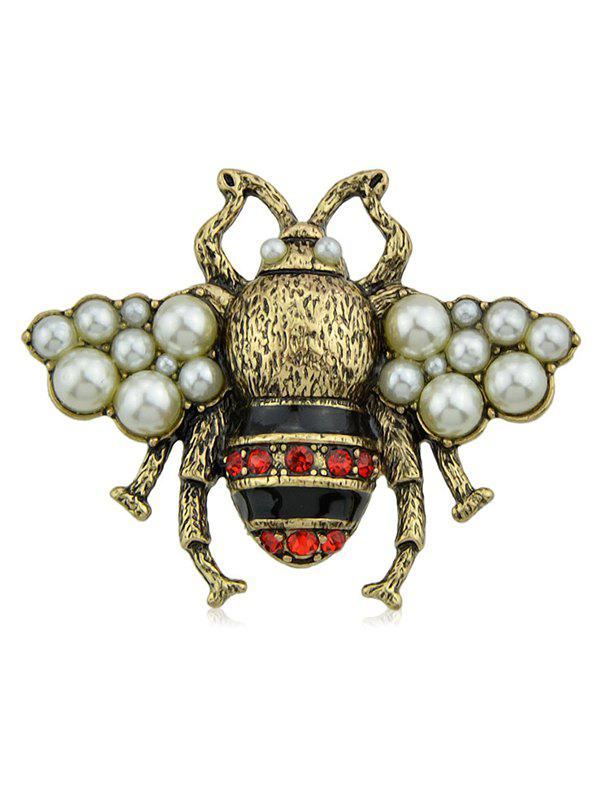 Outfit Fake Diamond Bee Design Brooch