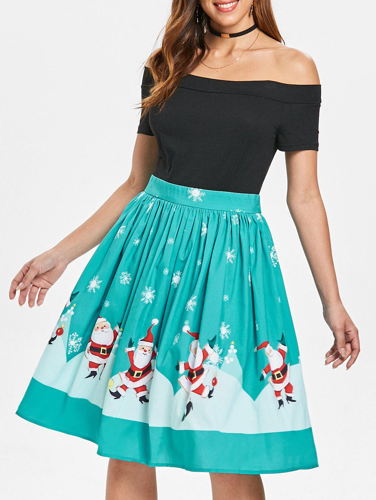 Outfit Christmas Off The Shoulder 50s Swing Dress