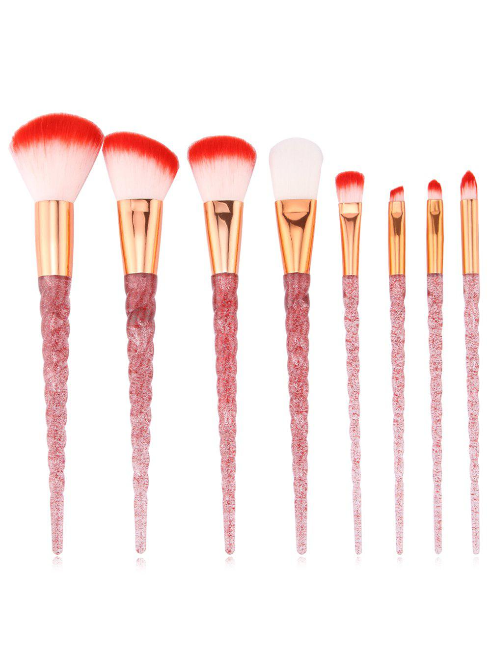 8шт Ultra Soft Silky Foundation Blush Travel Cosmetic Brush Set