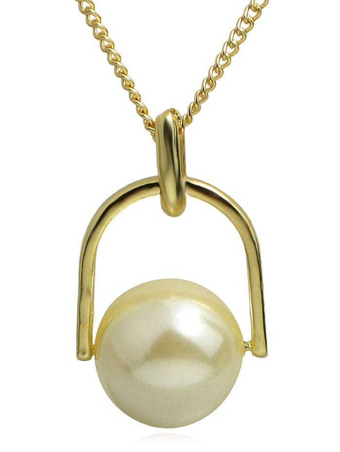 Trendy Round Ball Pendant Alloy Chain Necklace